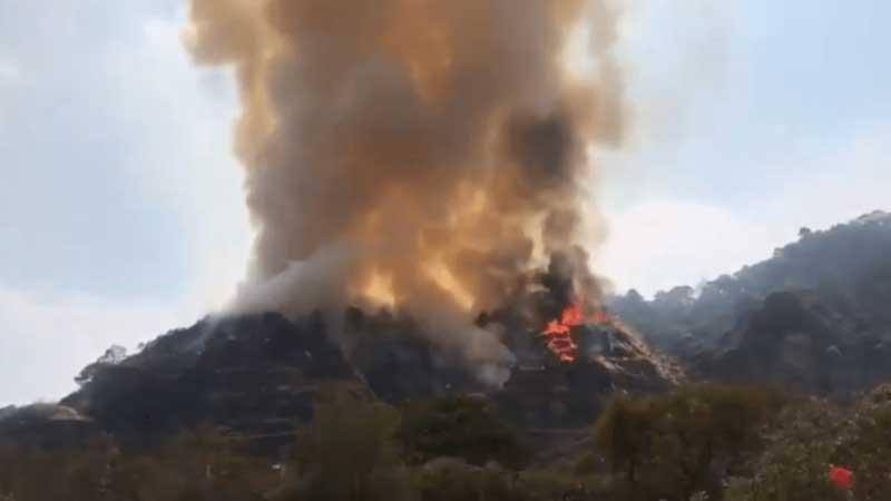 Hasta 10 años en prisión o multa a joven que ocasionado el incendio en Tepoztlán