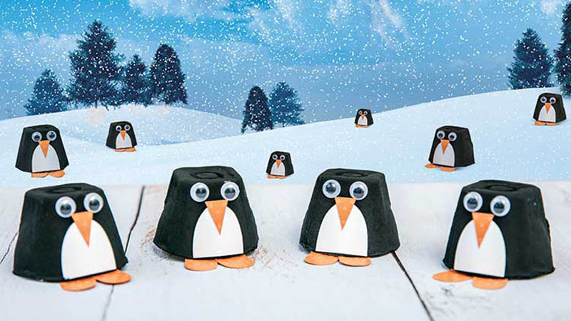 Pingüinitos de cartón