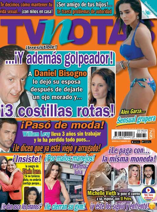 Portada Edición 1175, #MartesDeTVNotas, William Levy ruega por trabajo en Televisa, pero le dicen que ya está viejo; Michelle Vieth engaña a su esposo con El Potro ¡y él los cacha y enfrenta!