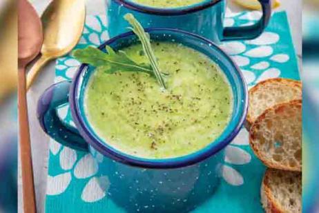 Crema de arúgula y brócoli