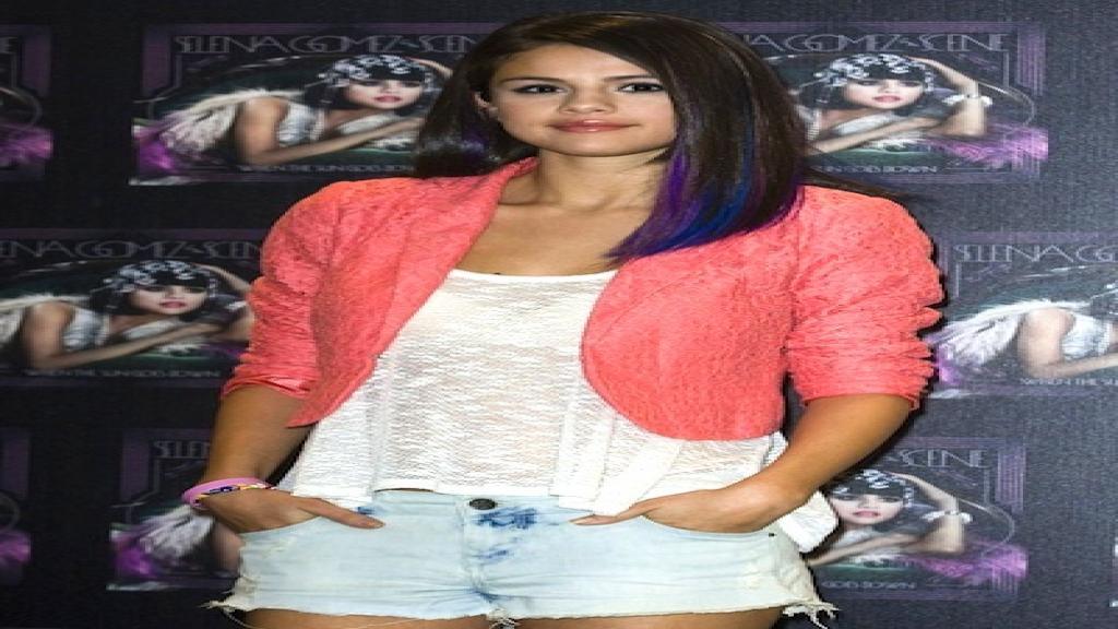 Selena Gómez durante la conferencia de prensa en México.