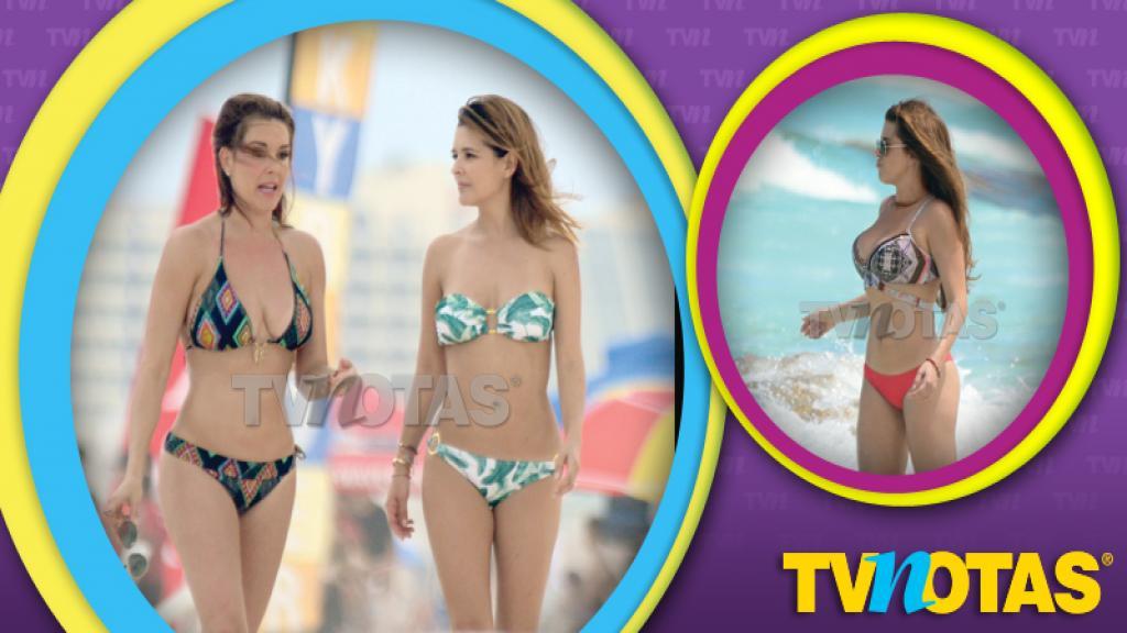 Alicia Machado y Grettell Valdez lucieron espectaculares en la playa.