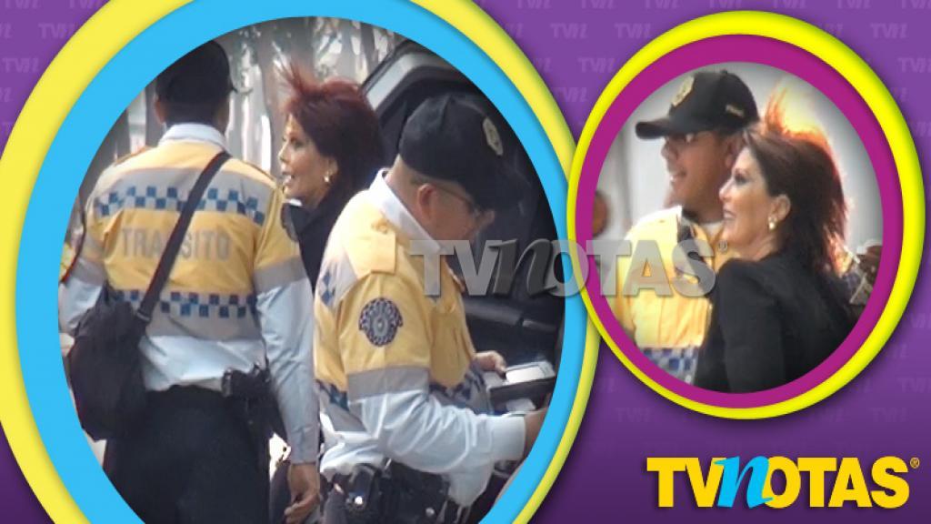 Alejandra Guzmán fue detenida, pero su fama la salvó del corralón.