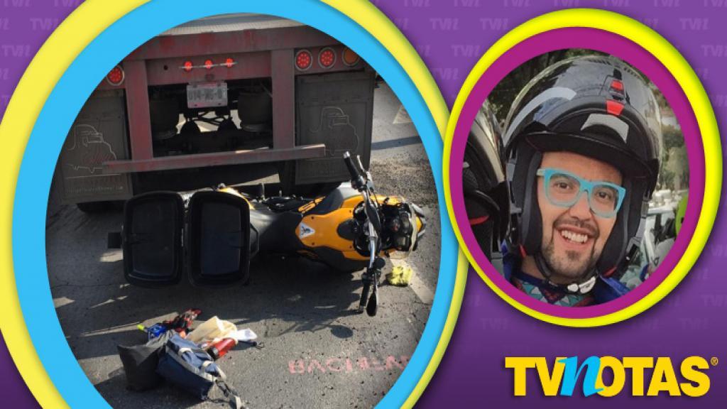 Mauricio Clark se llevó tremendo susto al ser atropellado por un camión de carga.