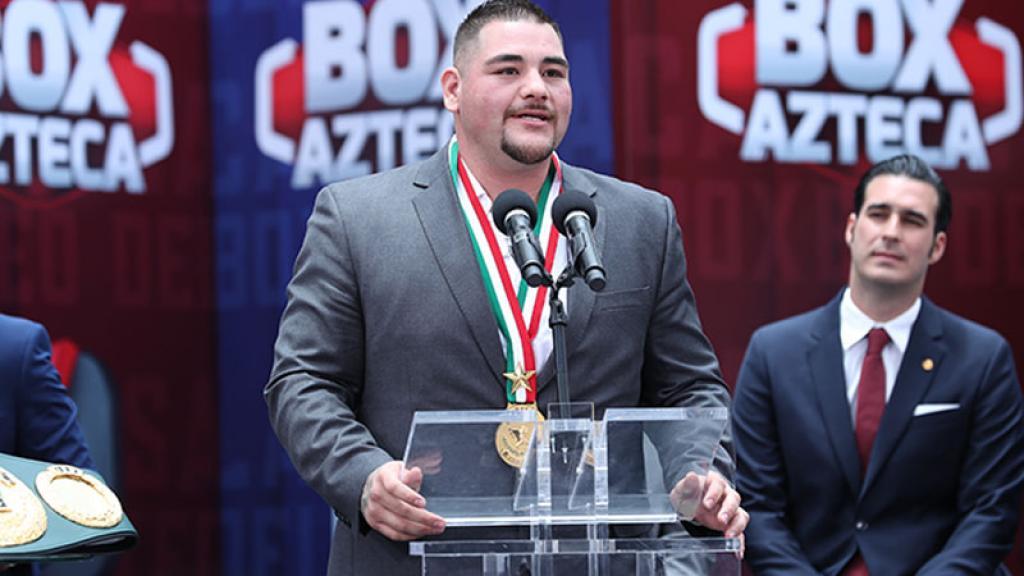 Andy 'Destroyer' Ruíz, campeón de peso completo llegó a México