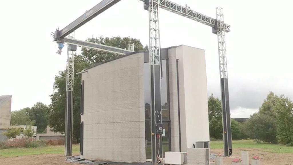 Bélgica Casa Impresión 3D dos pisos Prototipo Futuro Arquitectura construcción