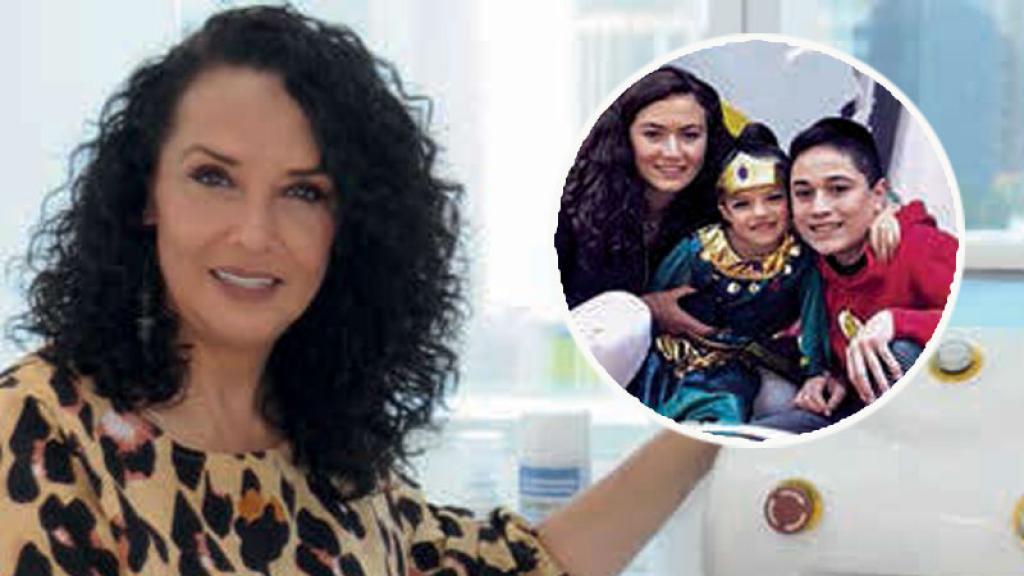 Mayra Rojas es una ¡mamá luchona!, por sus tres hijos hasta vende sanitizantes