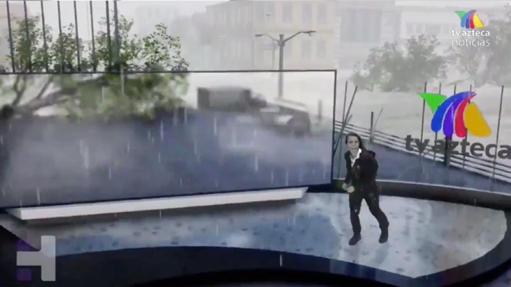 tv azteca recrea realidad aumentada huracán tecnología