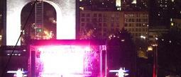 Monumento de la Revolución durante el concierto de Britney Spears.