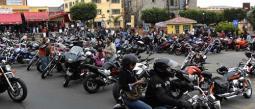 Motociclistas mexicanos realizan su peregrinación anual a Jalisco.