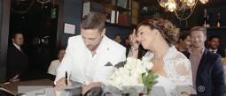 La boda fue muy diferente a las ceremonias tradicionales.