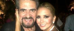Florencia y el actor Manuel 'El Flaco' Ibañez.