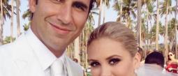 Florencia de Saracho se casó mientras su papá está delicado de salud.