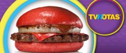 Cadena de comida rápida venderá hamburguesas rojas en Japón.
