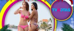Ana Bekoa y Vanessa Arias posaron juntas y muy candentes.