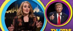 Adele perdió los estribos por culpa de Donald Trump.