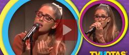 Ariana Grande hizo la voz de Shakira, Britney Spears y Whitney Houston.