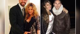 Familia Piqué y familia Messi.
