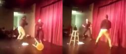 hombre golpea a comediante por burlarse de él