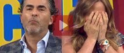Raúl Araiza roba un beso a Andrea Legarreta