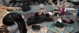 Así se vive el detrás de cámaras en la obra 'Cleopatra metió la pata'.