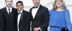 Latin Lover se vio sorprendido en la alfombra roja de los Oscar.