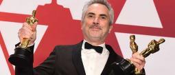 Alfonso Cuarón está imparable; recibió su segundo Oscar.