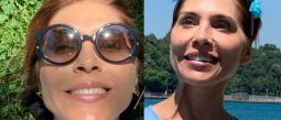 La actriz compartió imágenes feliz y radiante flotando en el Mar Muerto