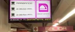 Ya hay pantallas en el metro de la CDMX que anuncian en tiempo real el horario del metro.