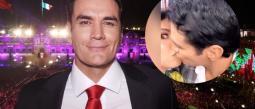 Ahora que el actor está soltero, anda 'desatado' pues no solo la besó a ella, sino que también le robó un beso a Aracely Arámbula.