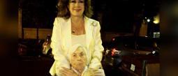 Doña Eva Mange cumple 102 años y vuelve a festejar con pastel de tres leches
