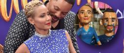 piñata de will smith y su esposa