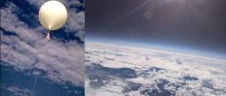 globo con cámara llega a la estratosfera