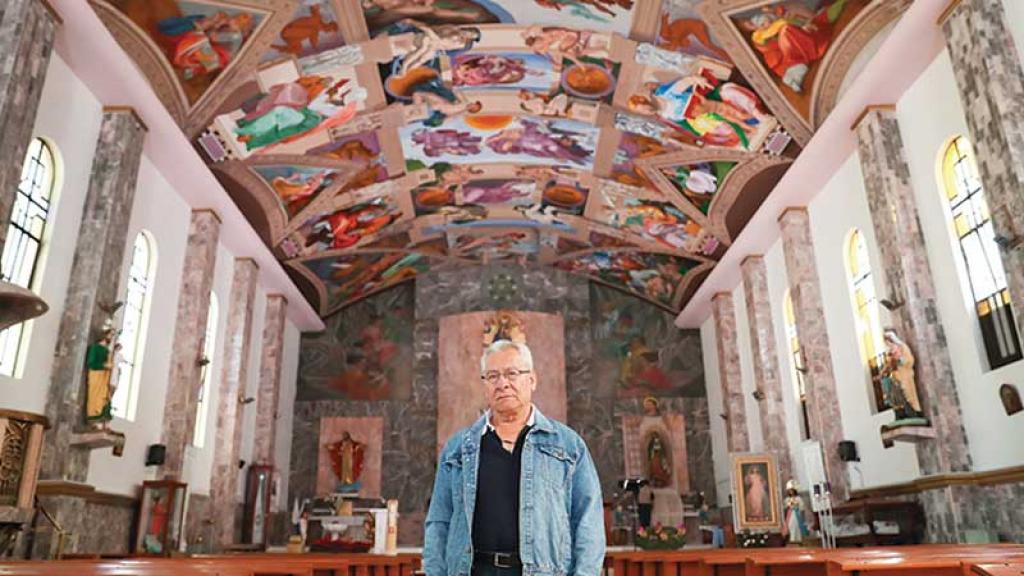 El 'Miguel Ángel' mexicano terminó la réplica de la Capilla Sixtina