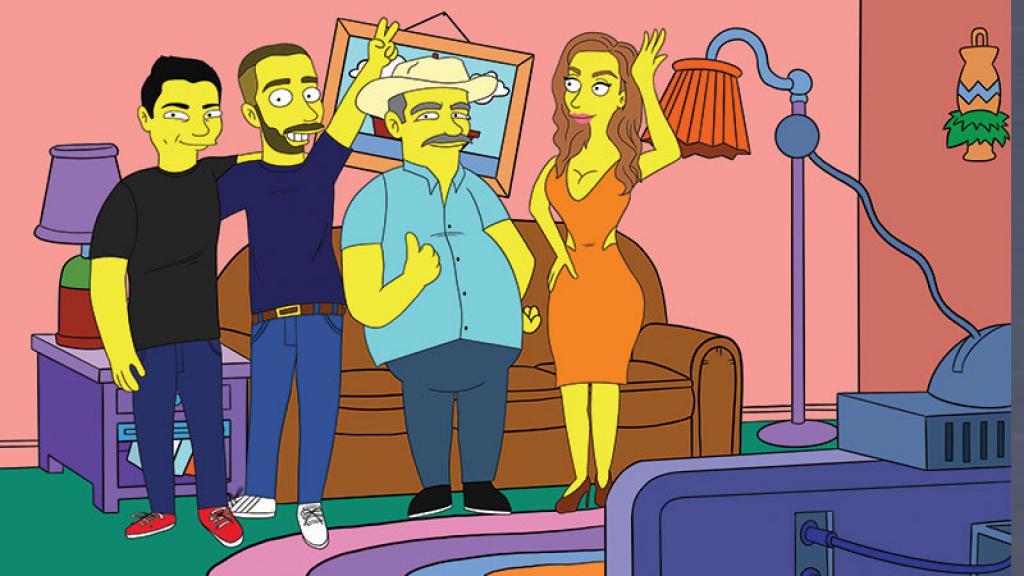 Jorge salió adelante vendiendo dibujos personalizados de Los Simpson